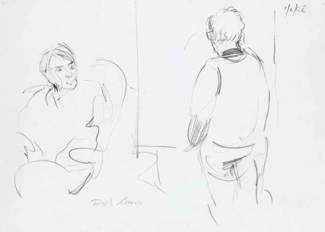 Sketch of Clifton Pugh painting John Perceval