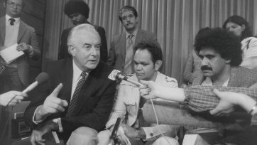The Hon Gough Whitlam, Ossie Cruse and Michael Anderson, 1981 (printed 2003) Juno Gemes