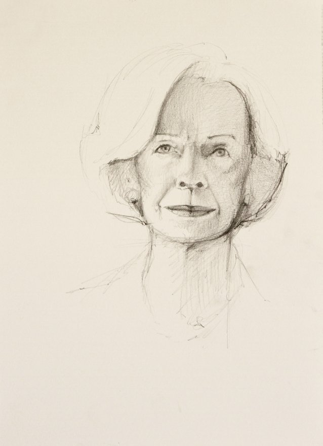 Study for Portrait of Quentin Bryce by Michael Zavros