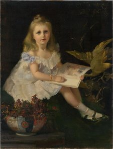 Louise, daughter of the Hon. L. L. Smith by Tom Roberts, 1888