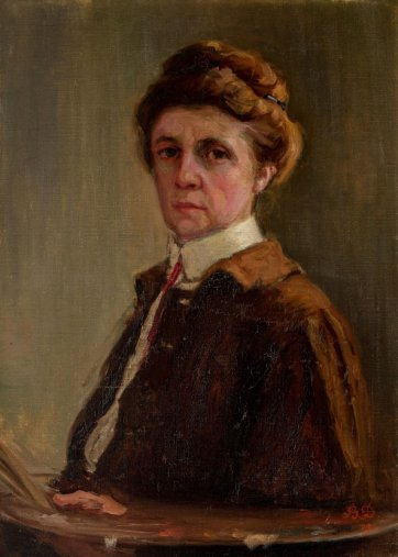 Self-portrait, 1909 Bessie Davidson. Art Gallery of South Australia, gift of Margaret (Mrs Klasen) and Sybil de Rose 1992 © Art Gallery of South Australia