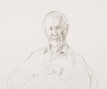 Study for the portrait of Professor Frank Fenner, 2007 by Jude Rae