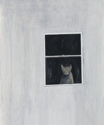 Cat inside looking at me, 2013 by Noel McKenna