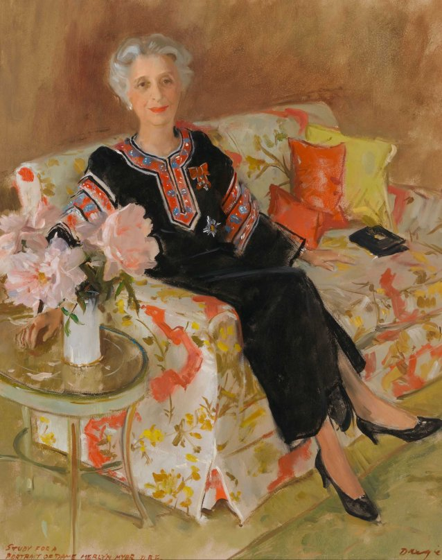 Study for a portrait of Dame Merlyn Myer DBE