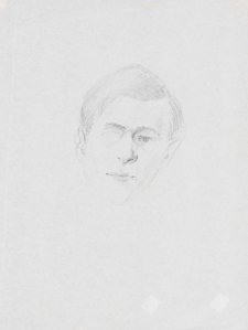 Study for portrait of Peter Elliott, 1964 Jon Molvig
