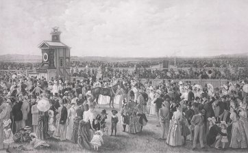 The Derby Day at Flemington, c. 1890 Carl Kahler, Goupil & Cie