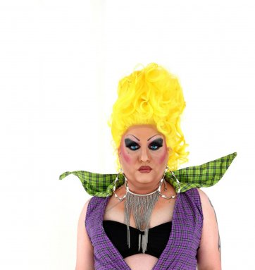 Shane Balcomb aka. Sasha Trajik-Mole, drag queen, 2011 by David Kelly