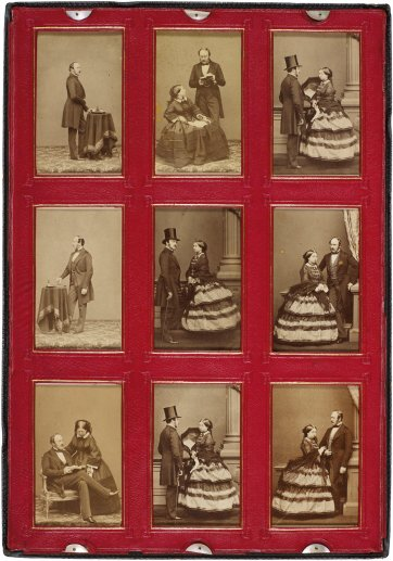 Screen from Portfolio of 54 portraits compiled by Queen Victoria, 1859–1861