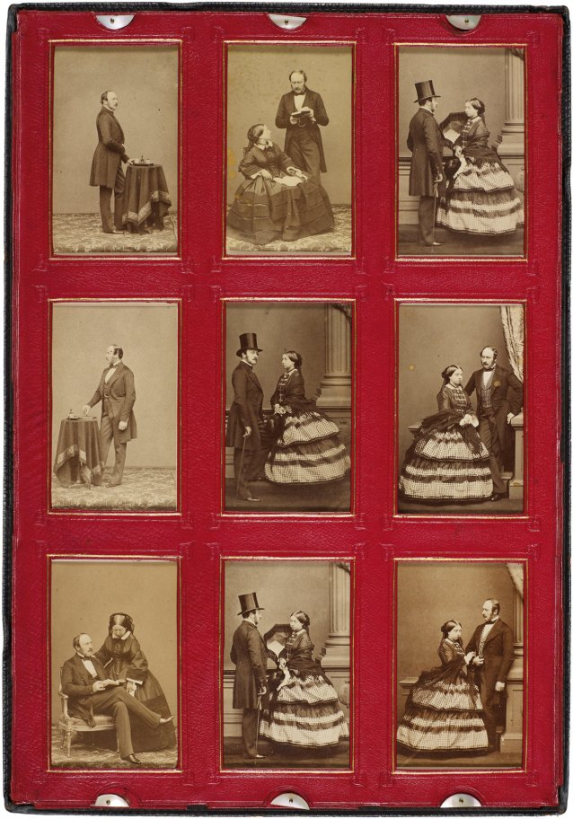 Screen from Portfolio of 54 portraits compiled by Queen Victoria, 1859–1861 John Jabez Edwin Mayall, Camille Silvy, Frances Day and William Bambridge