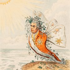 The Great South Sea Caterpillar transform'd into a Bath Butterfly (Sir Joseph Banks), 1795 (printed 1851) by James Gillray