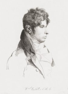 William Westall, 1854 by George Dance, William Daniell