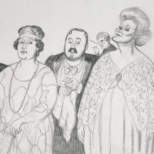 Great stylists: Caruso, Melba, Pavarotti, Bonynge and Sutherland, 1983 by Arthur Horner