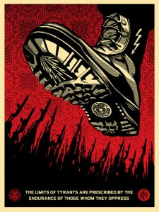 Tyrant Boot, 2008 by Shepard Fairey
