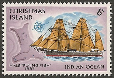 Christmas Island stamp, issued 1972