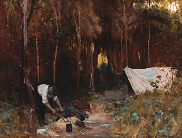 Settler's Camp, 1888  by Arthur Streeton