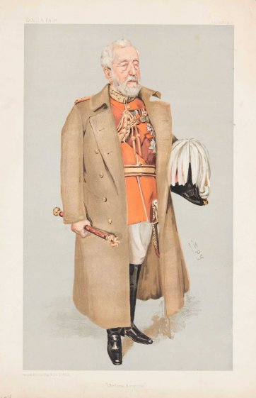 """Chelsea Hospital"" Sir Henry Wylie Norman (Image plate from Vanity Fair), 1903 by Sir Leslie Ward"