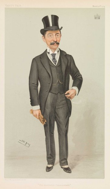"""The Australian Commonwealth"" (Henry Stafford Northcote) (Image plate from Vanity Fair), 1904 by Sir Leslie Ward"