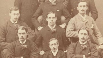 William St Leonards Robertson and the Oxford boat race crew, early 1880s Hills & Saunders