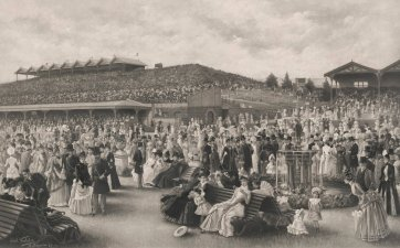 The Lawn at Flemington on Melbourne Cup Day, c. 1889 Carl Kahler, Goupil & Cie