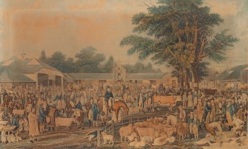 Woburn Sheepshearing, 1811 by Thomas Morris, M N. Bates, Joseph C. Stadler after George Garrard