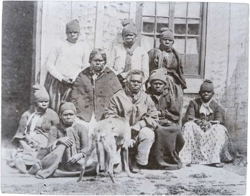 Aborigines at Oyster Cove, Tasmania, 1858 (printed 1890s) Francis Nixon