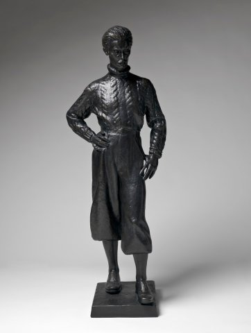 Self portrait in plus fours, c. 1939 (cast 2003) Lyndon Dadswell