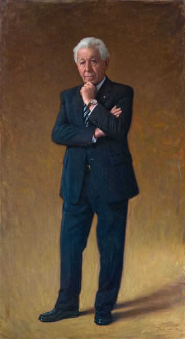 Portrait of Frank Lowy AC, 2014 by Paul Newton