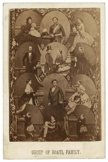 Group of Royal Family early, 1860s by John Jabez Edwin Mayll