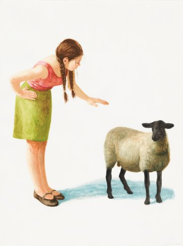 Ministrations of the shepherdess, 2014 by Graeme Drendel