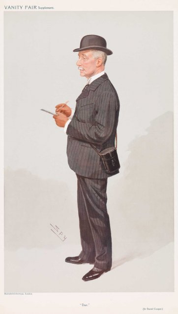 """Dan"" (Sir Daniel Cooper) (Image plate from Vanity Fair), (1890s) by Sir Leslie Ward"