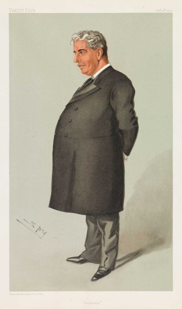 """Australia"" Sir Edmund Barton (Image plate from Vanity Fair), 1902 by Sir Leslie Ward"