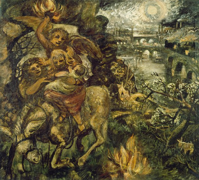 Flight into Egypt 1947, by John Perceval