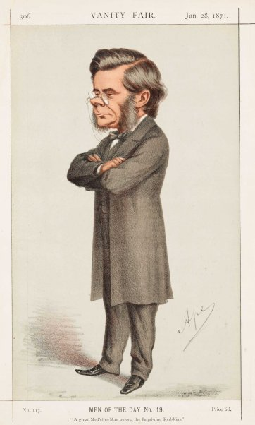 "Men of the Day No.19 ""A great Med'cine-Man among the inquiring Redskins"" Thomas Henry Huxley (Image plate from Vanity Fair), 1871 by Carlo Pellegrini"