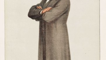 "Men of the Day No.19 ""A great Med'cine-Man among the inquiring Redskins"" Thomas Henry Huxley (Image plate from Vanity Fair), 1871 Carlo Pellegrini"