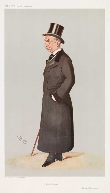 """Small Holdings""  The Earl Carrington Baron Charles Robert Carrington (Image plate from Vanity Fair), 1907 by Sir Leslie Ward"