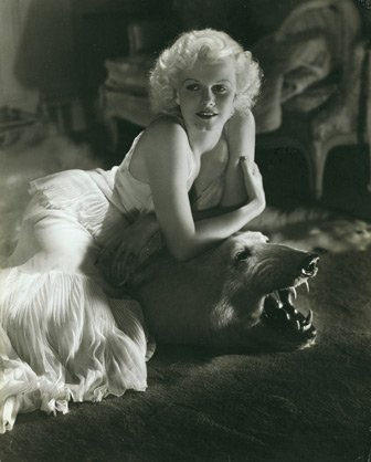Jean Harlow at home, by George Hurrell, 1934 publ. January 1935.