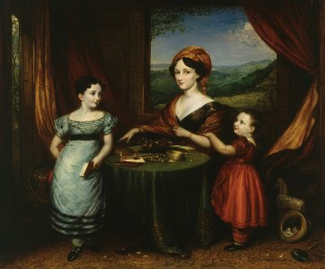 Mrs Darling and her children, 1825
