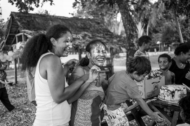 Family gathering, Kakabona, Guadalcanal by Sean Davey