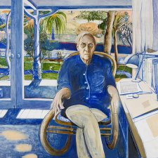 Patrick White at Centennial Park, 1979-1980 by Brett Whiteley