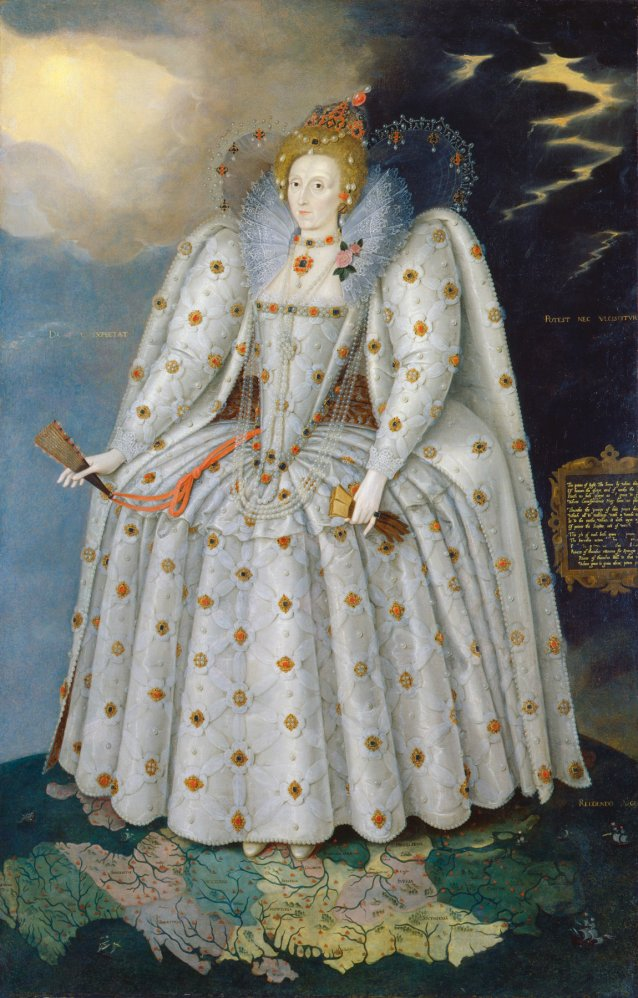 Queen Elizabeth I, c.1592 (also known as The 'Ditchley' portrait)