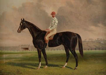 Blue Mountain, Owner, Trainer, Jockey, James Scobie, 1887 by Frederick Woodhouse
