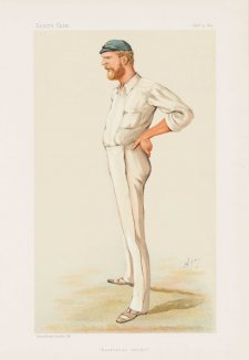 """Australian Cricket"" George John Bonnor (image plate from Vanity Fair), 1884 Carlo Pellegrini"