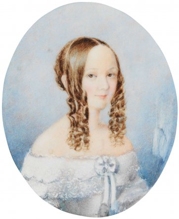 Portrait of Harriet Swan, c. 1842 an unknown artist