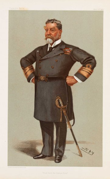 """Fresh from the Channel Fleet"" Sir Harry Holdsworth Rawson  (Image plate from Vanity Fair), 1901 Sir Leslie Ward"