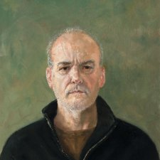 Self-portrait in black jumper, 2017 Graeme Drendel
