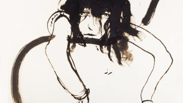 Wendy drunk 11pm, 1983 by Brett Whiteley