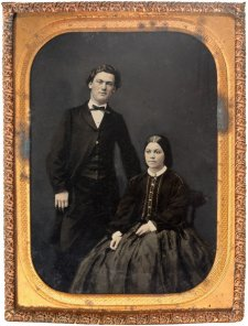 Mr and Mrs R.T. Carter, c. 1863 by Milligan Bros. (Studio)