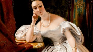 Portrait of Lady Eyre Williams (Jessie Gibbon), 1833 by Claude-Marie Dubufe