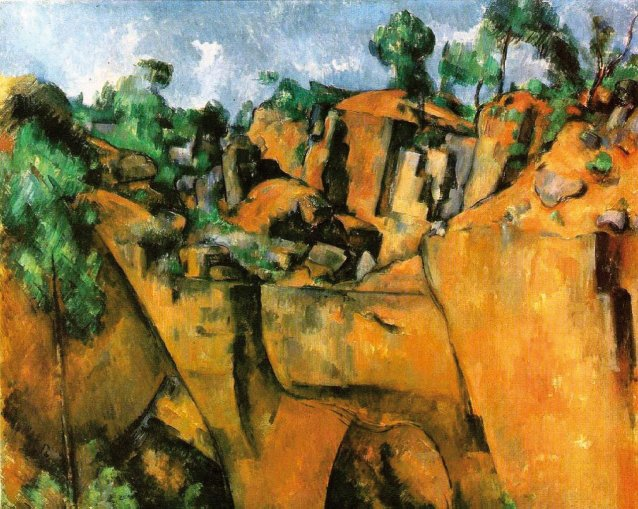 Bibemus Quarry, c. 1885 by Paul Cézanne