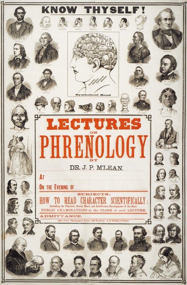 Lectures on Phrenology, c. 1860s by S R Wells and New York phrenological journal